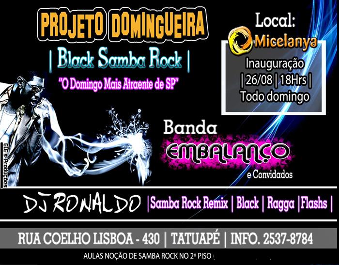 Projeto Domingueira com Embalanço, DJ Ronaldo e convidados #nota