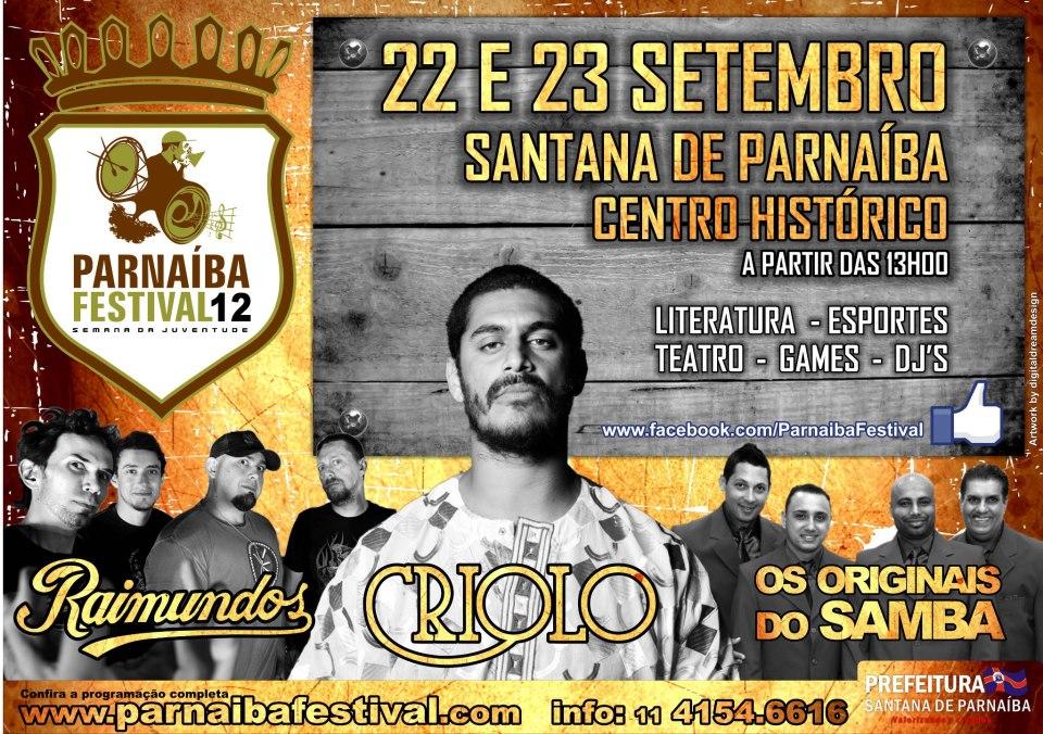 Parnaíba Festival terá Criolo, Originais do Samba e outras atrações #nota