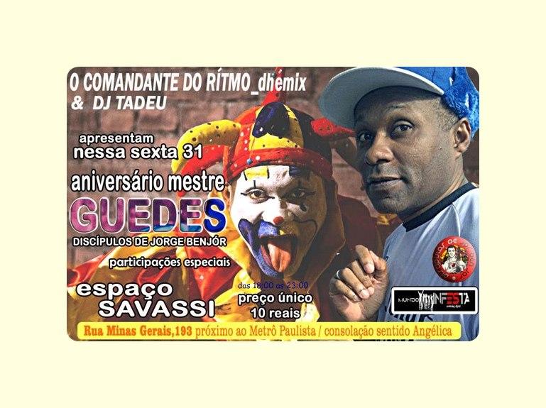 Grande festa de aniversário do professor Guedes no Savassi #nota