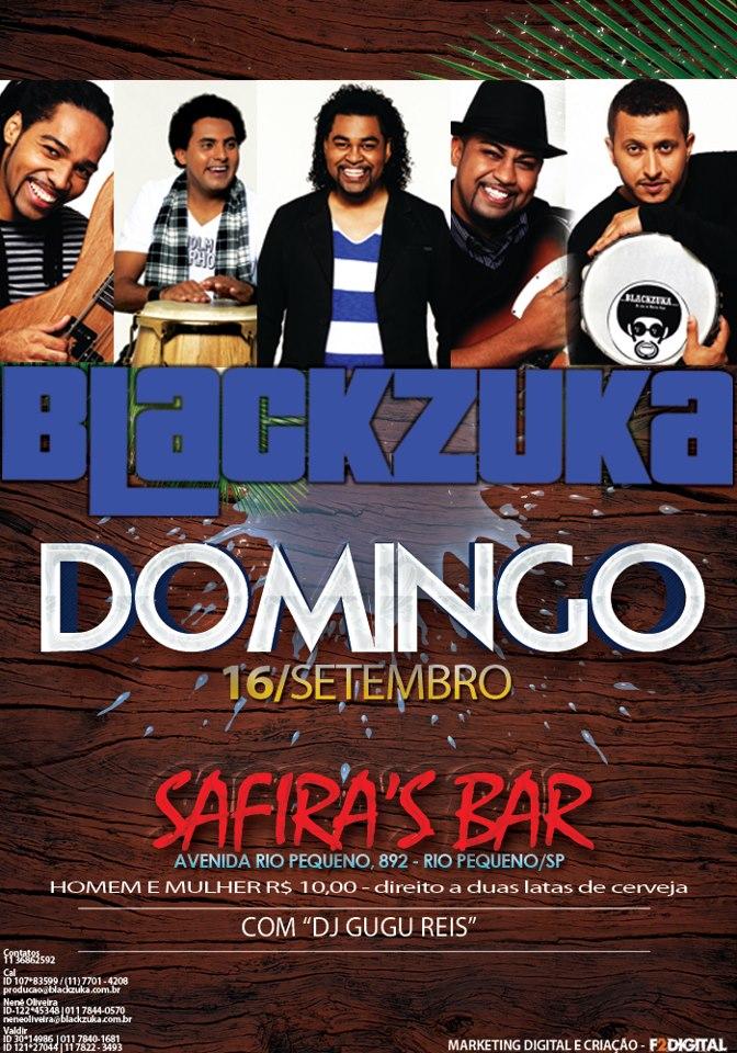 Domingo tem show da banda Blackzuka e DJ Gugu Reis #nota