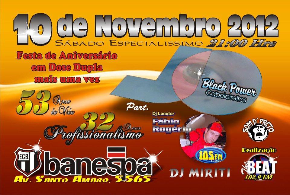 Baile Nostalgia no Banespa pelo aniversário de Jô Black Power #nota