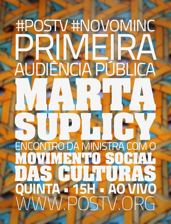 Assista ao encontro da ministra Marta Suplicy com Movimento Social das Culturas #nota