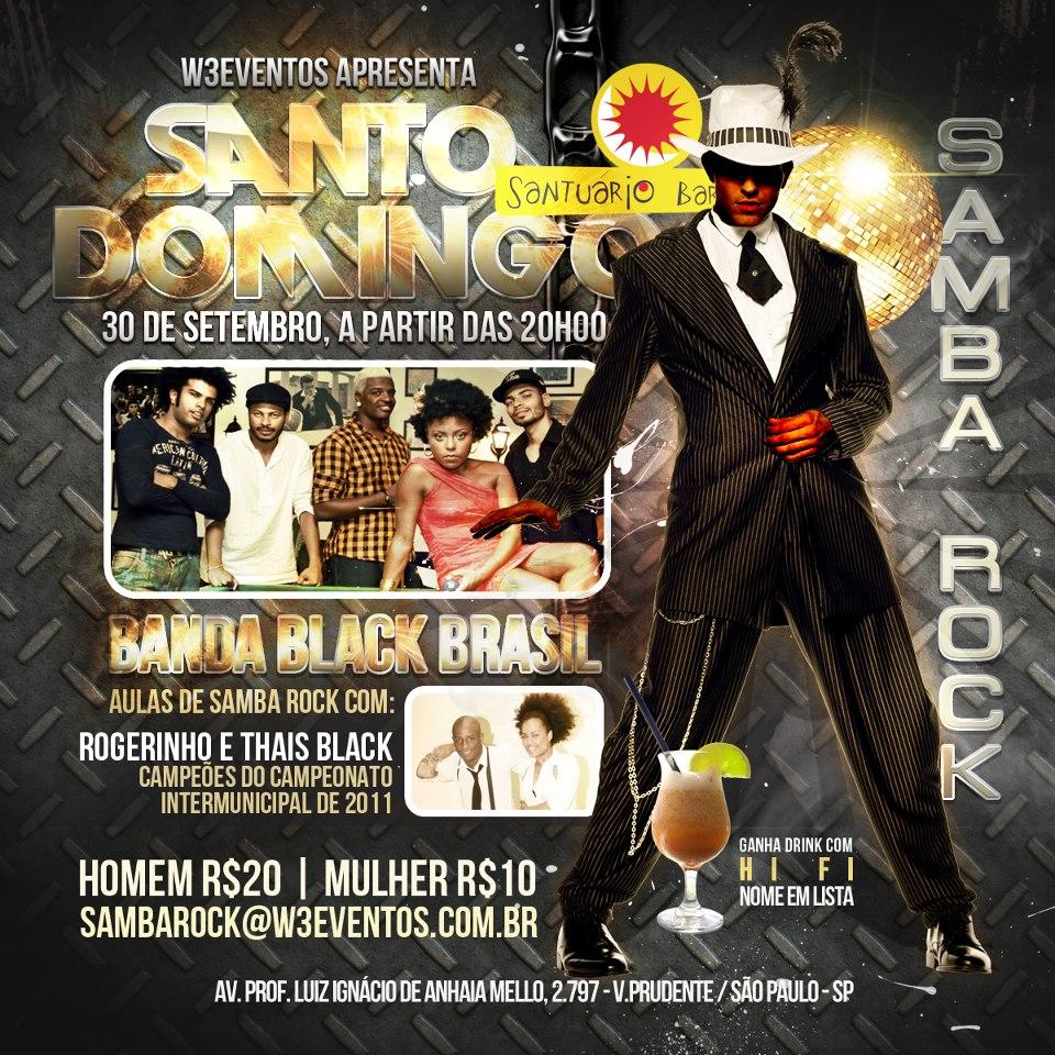 Santuário Bar traz domingueira com Black Brasil e aula de samba rock #nota