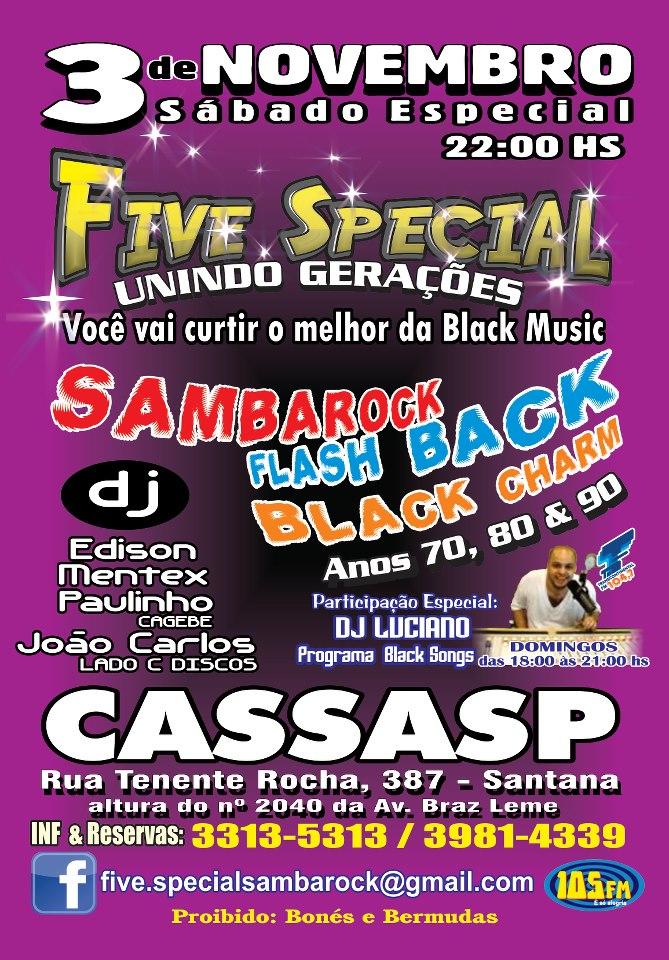 Baile Unindo Gerações da Five Special no CASSASP #nota