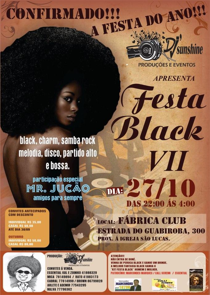 Fábrica Club recebe a Festa Black VII com muito samba rock #nota