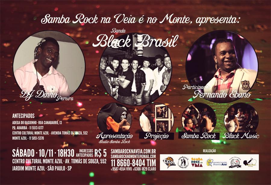 Samba Rock na Veia é no Monte festeja última do ano com atrações