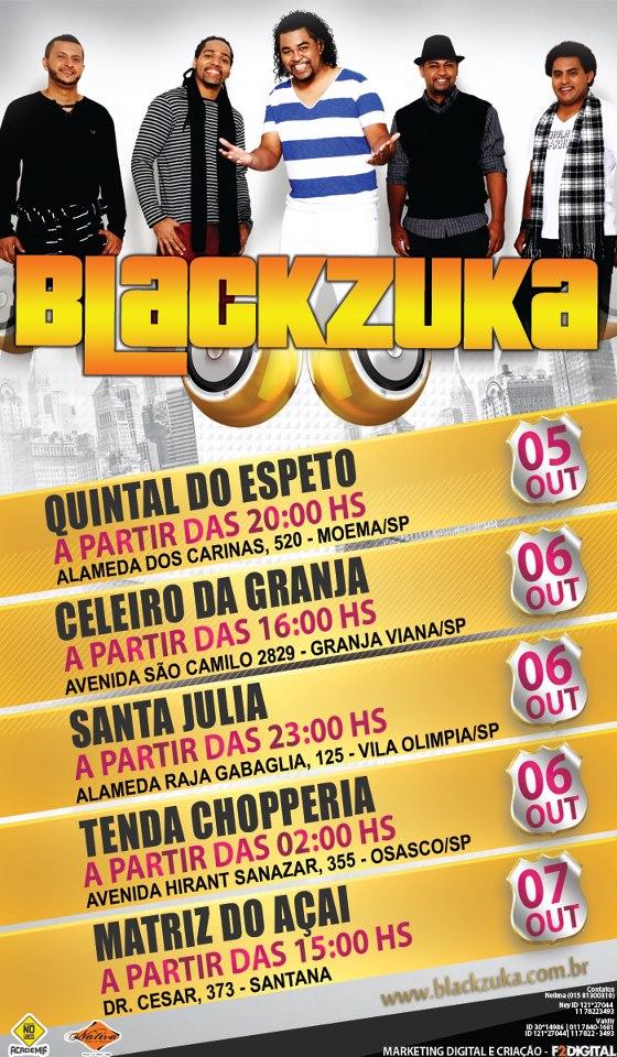 Shows da banda Blackzuka agitam o fim de semana #nota