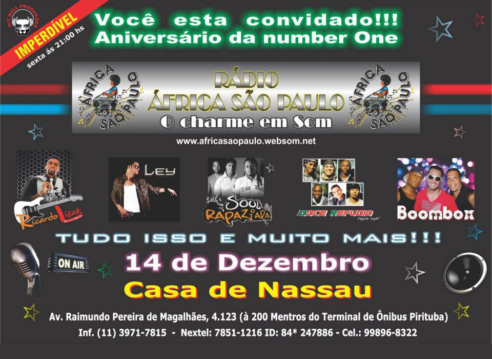 Rádio África São Paulo leva diversas atrações à Casa de Nassau #nota