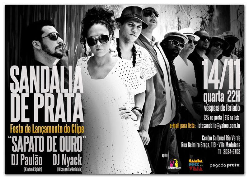 Sandália de Prata faz show por lançamento do clipe Sapato de Ouro #nota