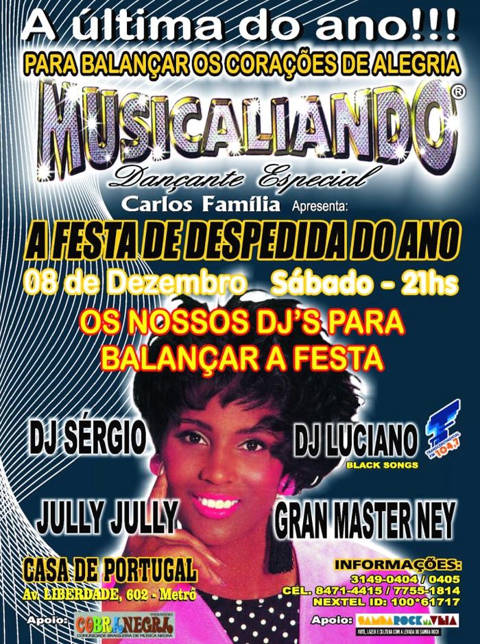 Musicaliando faz A Festa de Despedida de 2012 em dezembro