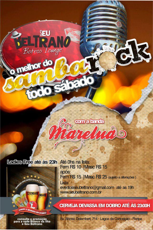 Floripa tem noite de samba rock todo sábado com banda Marelua #nota