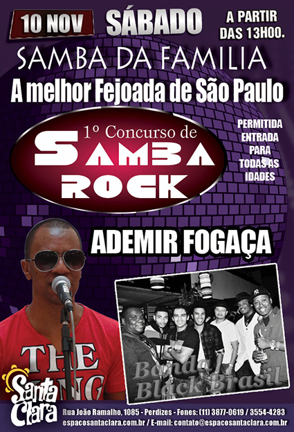 Concurso de samba sock neste sábado e atrações no palco #nota