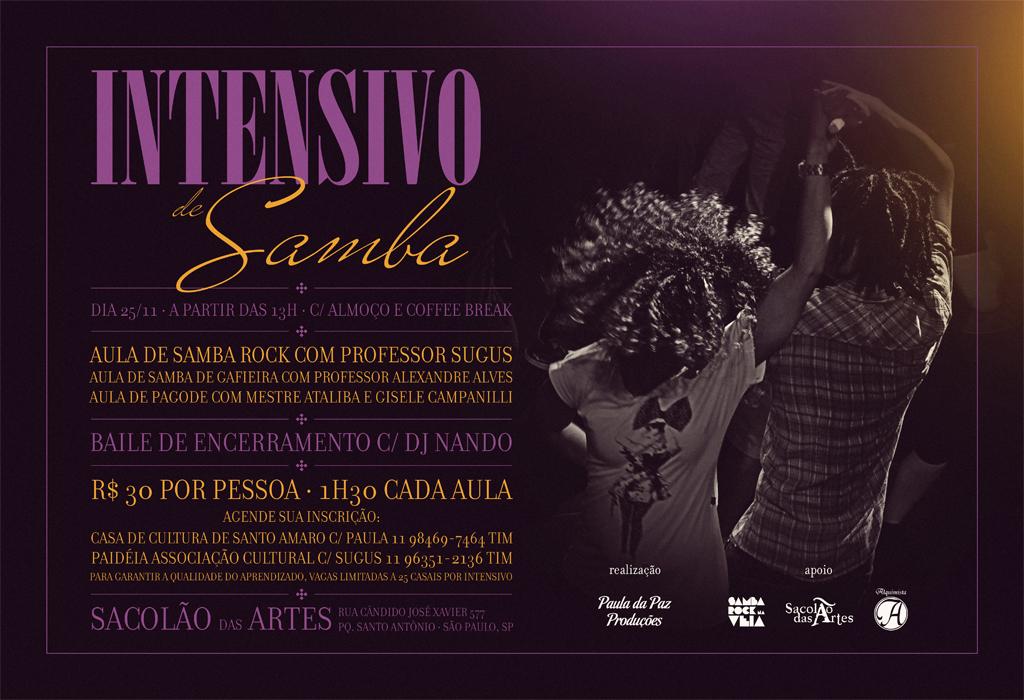 Intensivo de Samba traz aulas de samba rock, samba de gafieira e pagode #nota