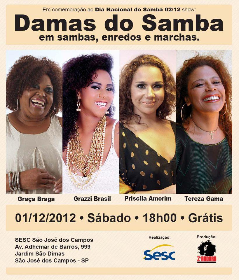 Damas do Samba traz quatro divas do samba em show #nota