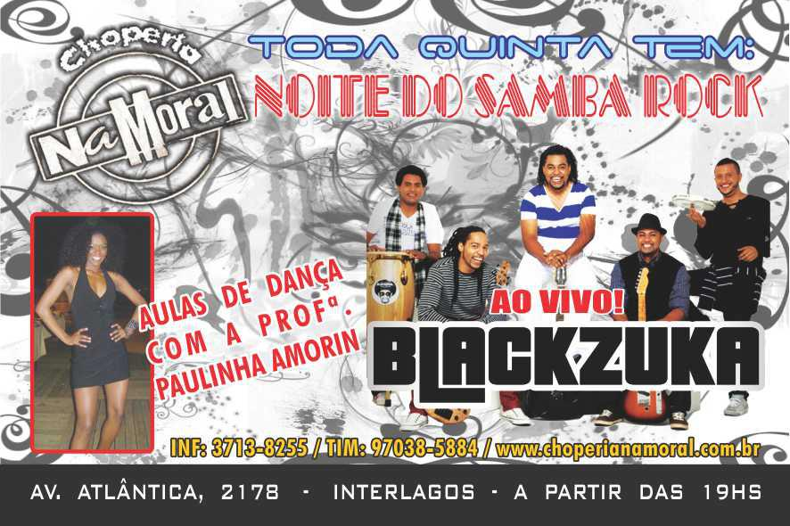 Toda quinta-feira tem Noite do Samba Rock com aula de dança e show #nota