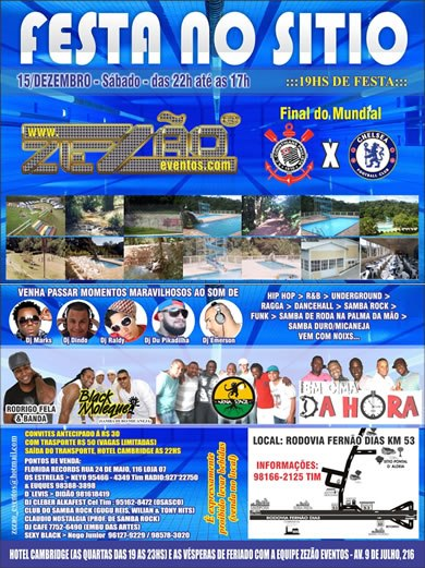 Zezão Eventos promove Festa no Sítio com samba rock na programação #nota