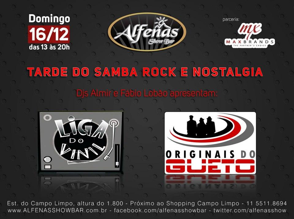 Domingo de samba rock com Liga do Vinil e Originais do Gueto #nota