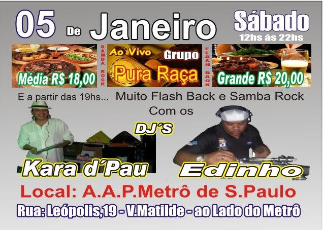 DJs Kara d'Pau e Edinho levam samba rock à ZL de São Paulo #nota