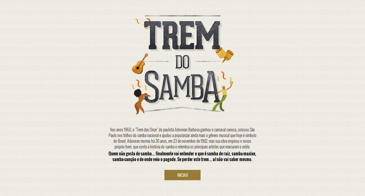 Trem do Samba conta a história do samba em forma de estações
