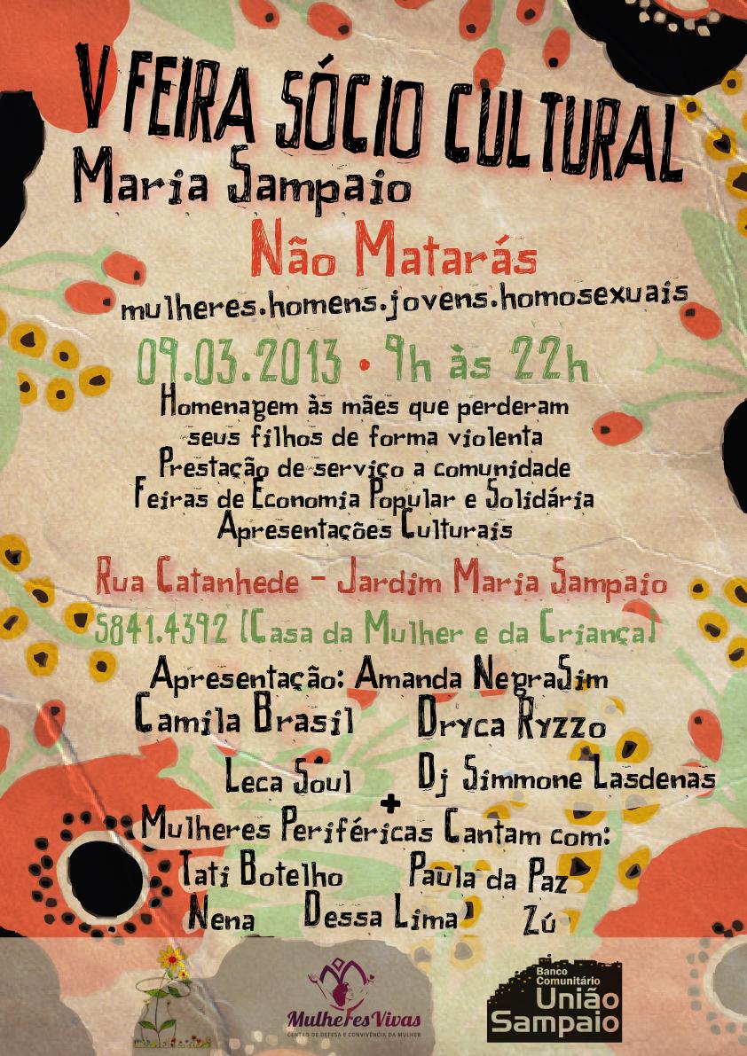 Em março acontece a 5ª Feira Sócio Cultural Maria Sampaio