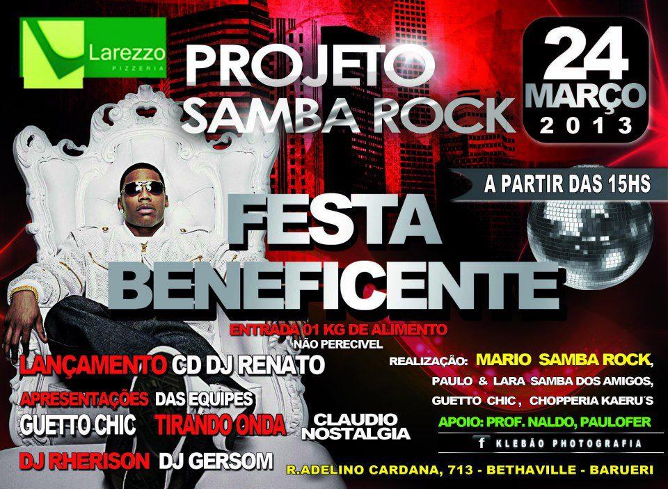 Projeto Samba Rock Festa Beneficente #nota