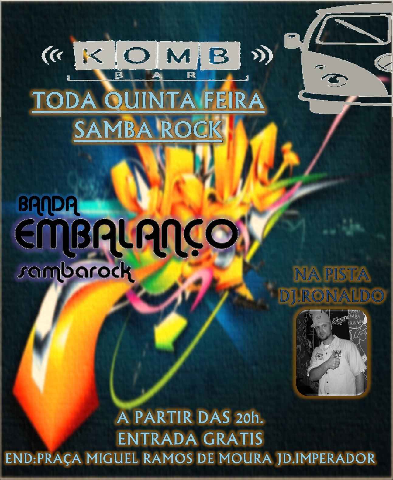 Komb Bar recebe show da banda Embalanço toda quinta de graça #nota