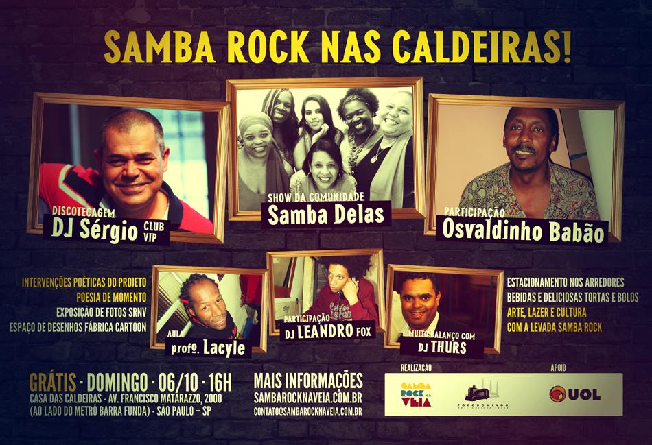 Samba Rock nas Caldeiras está de volta com diversas atrações