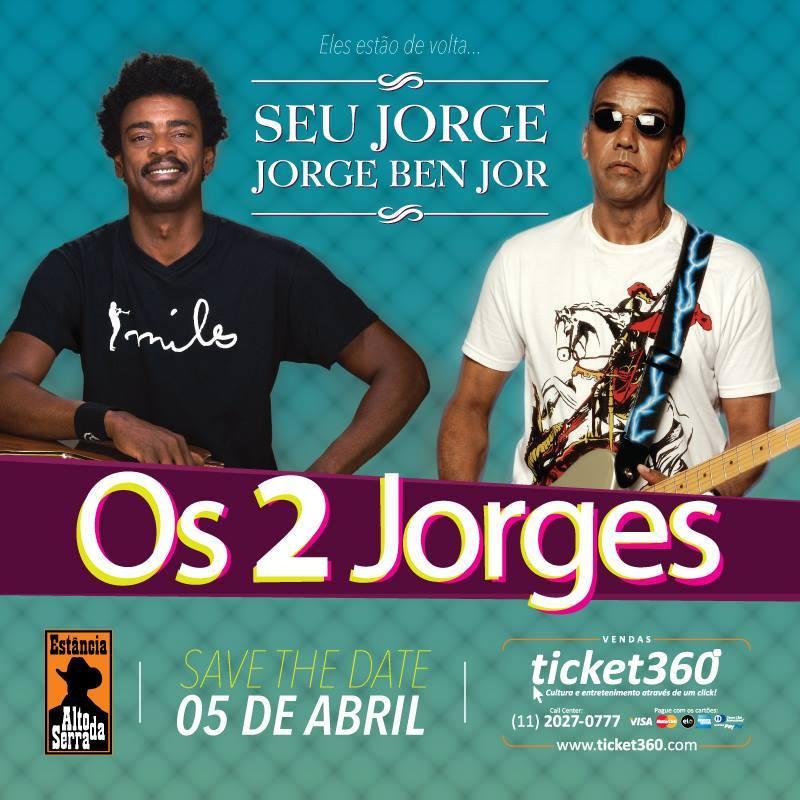 Seu Jorge e Jorge Ben Jor sobem ao palco juntos em show #nota
