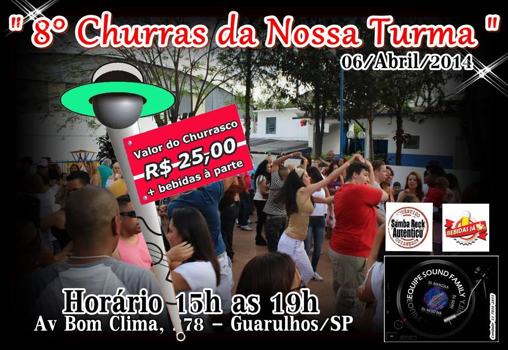 Vem aí o oitavo Churras da Nossa Turma em Guarulhos #nota