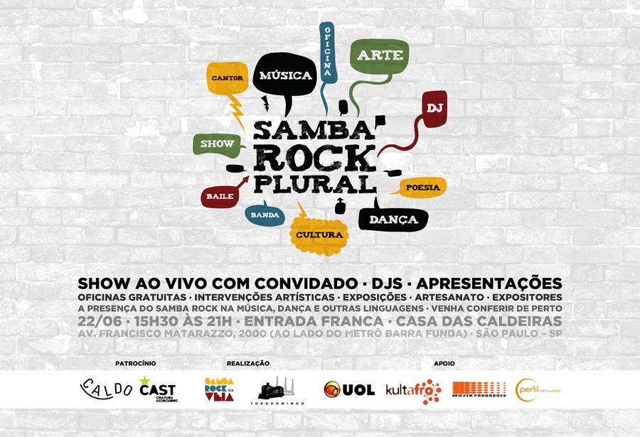 Samba Rock Plural dia 22/06, confira a programação completa