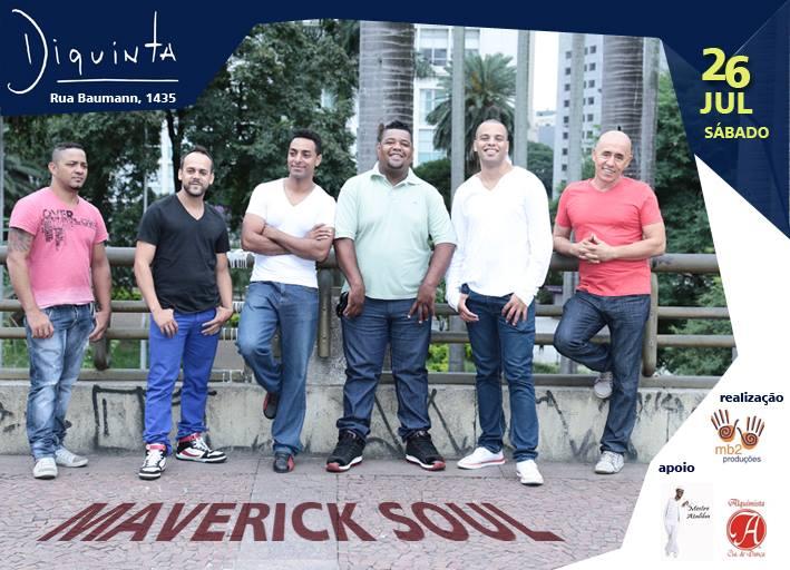 Maverick Soul faz show sábado no Diquinta #nota