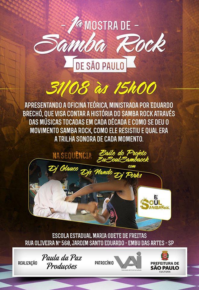 Extremo da cidade recebe edição da Mostra de Samba Rock #nota