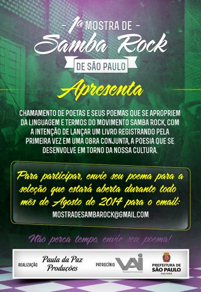 Chamamento de poetas para a Mostra de Samba Rock #nota