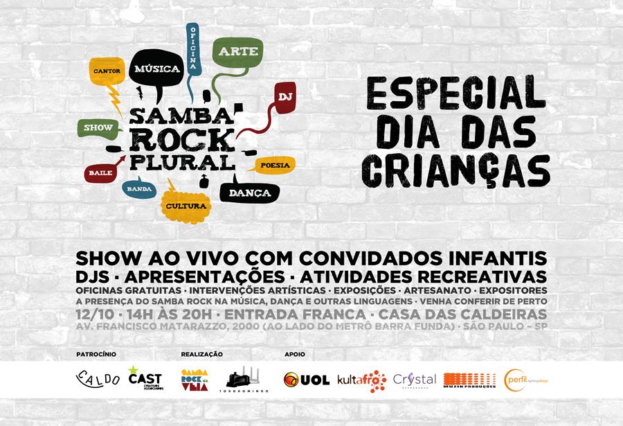 Samba Rock Plural celebra Dia das Crianças com atrações também para os pequenos