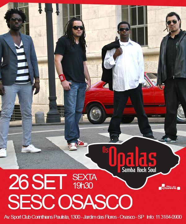 Sexta-feira tem show da banda Os Opalas no SESC #nota