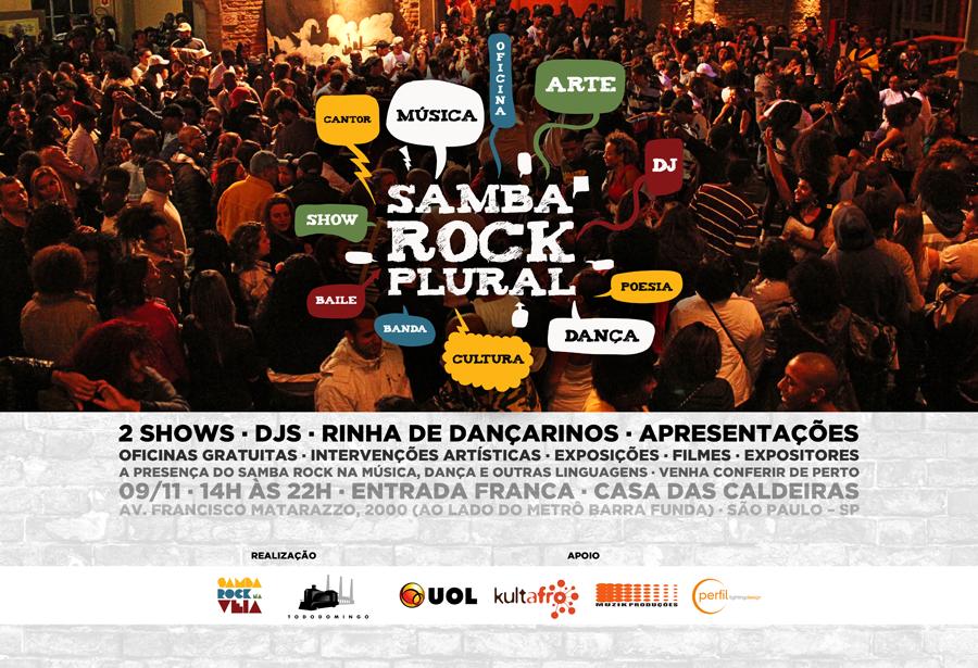 Samba Rock Plural em novembro vai balançar a Casa das Caldeiras