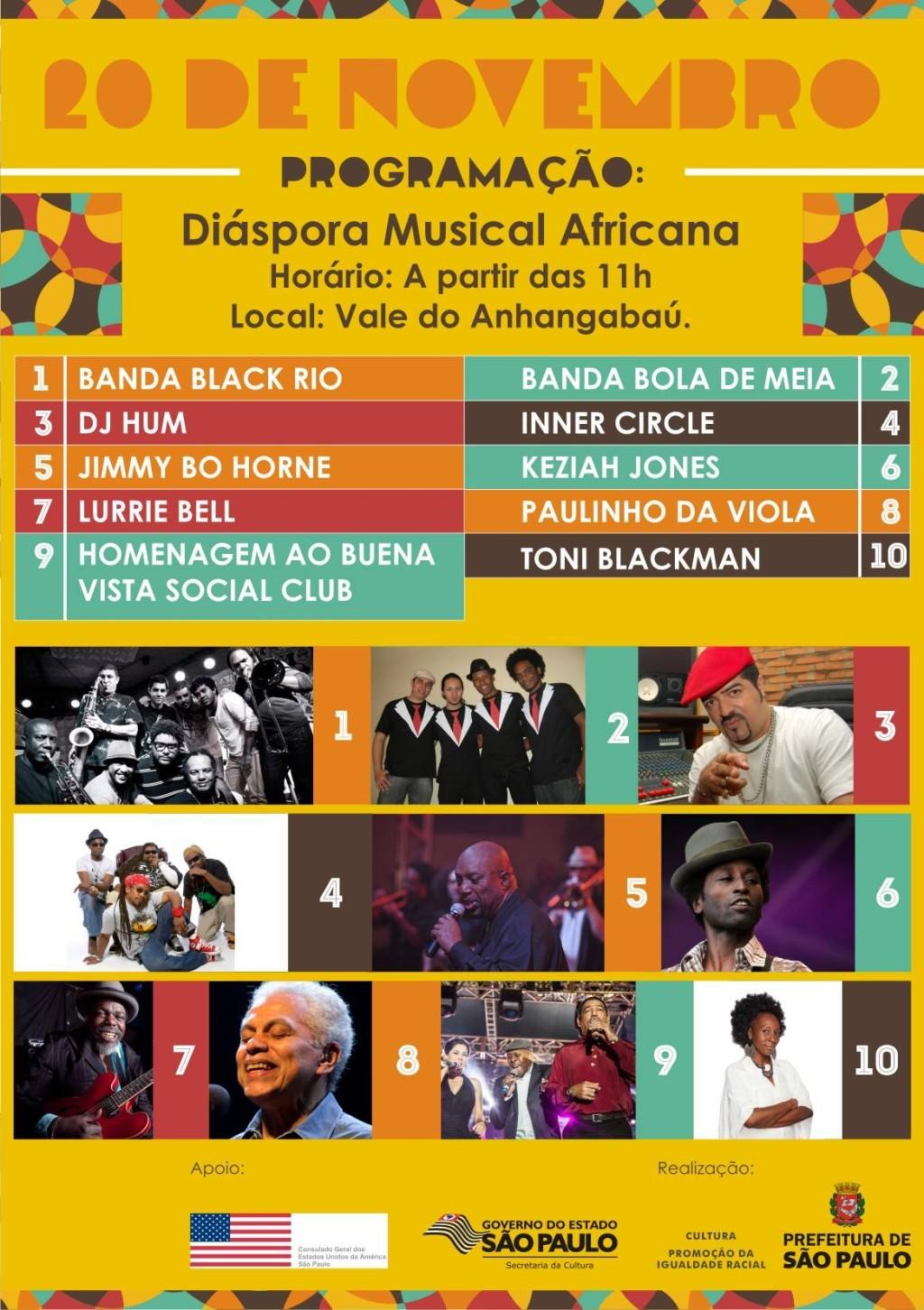 Shows agitam a Diáspora Musical Africana; Black Rio, DJ Hum, Bola de Meia e outros