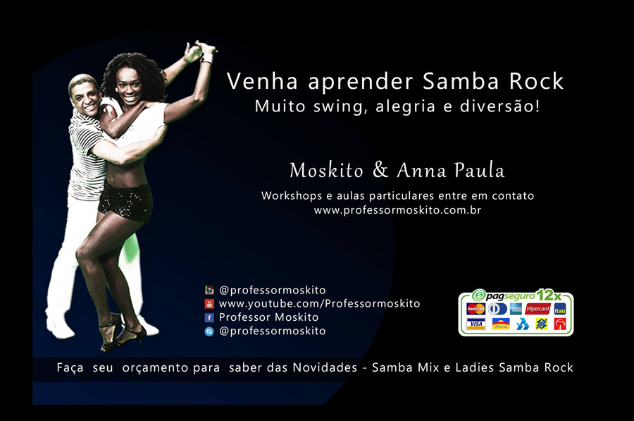 Faça aulas de samba rock com o casal Anna Paula e Moskito #nota