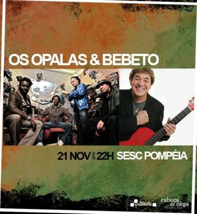 SESC apresenta show com a banda Os Opalas e Bebeto #nota