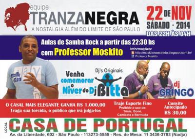 Tranza Negra realiza baile na Casa de Portugal com aula de samba rock #nota