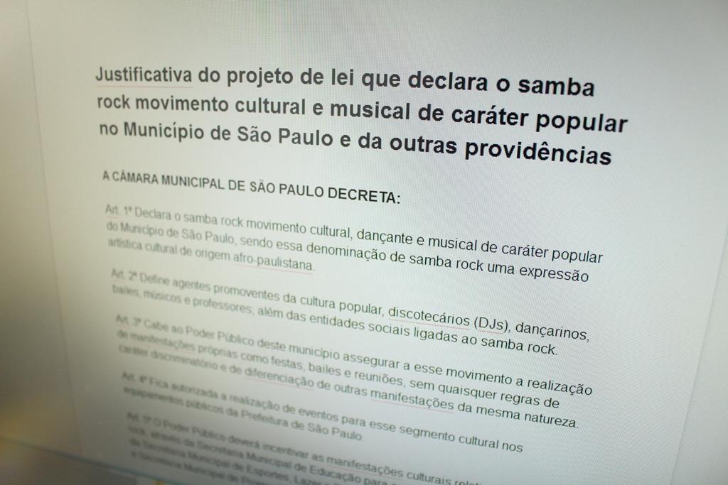Relatoria dos processos e reuniões antes da segunda Plenária do Samba Rock