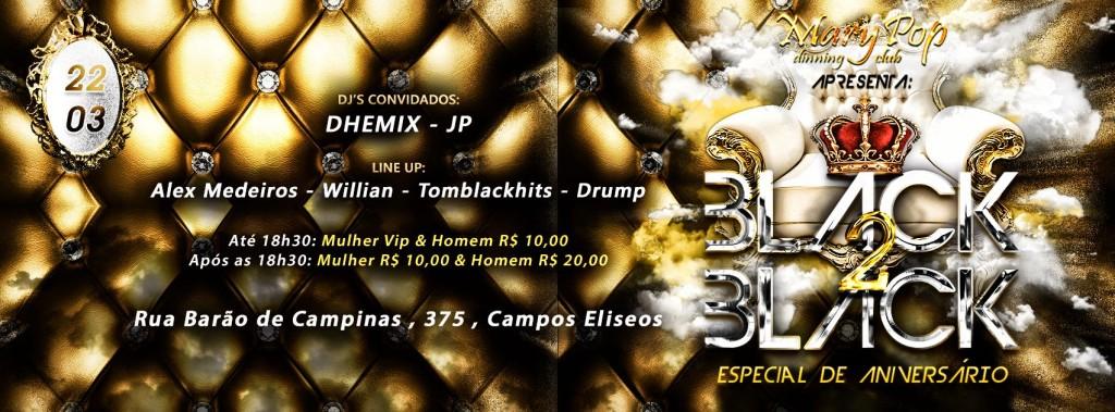 Black 2 Black tem DJs Adauto Dhemix e JP como convidados #nota
