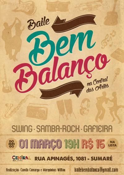 Baile Bem Balanço na Central das Artes #nota