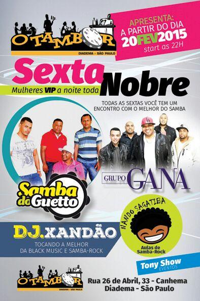 Nando Sagatiba abre festa no O Tambor com aula de samba rock #nota