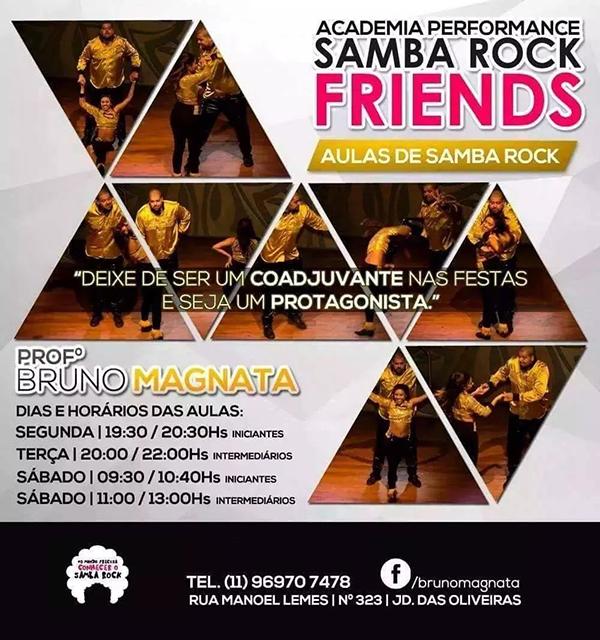 Aula de samba rock com Bruno Magnata na zona leste