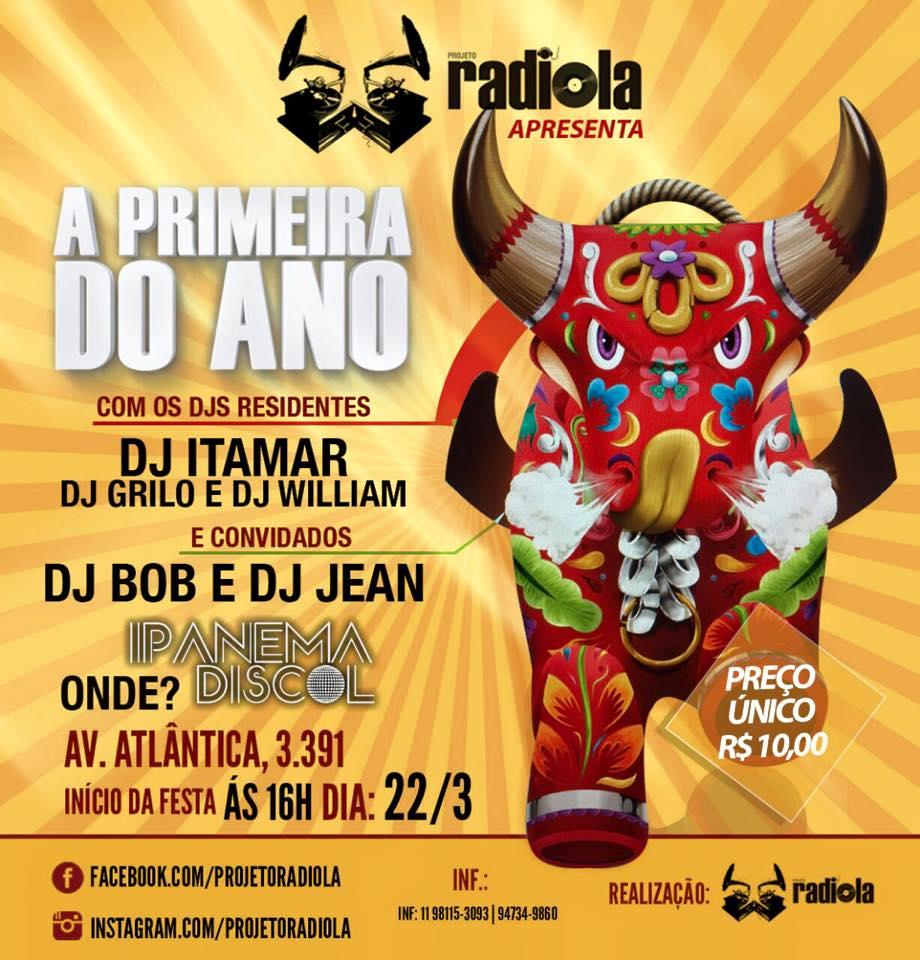 Domingo tem Projeto Radiola – Primeira edição do ano #nota