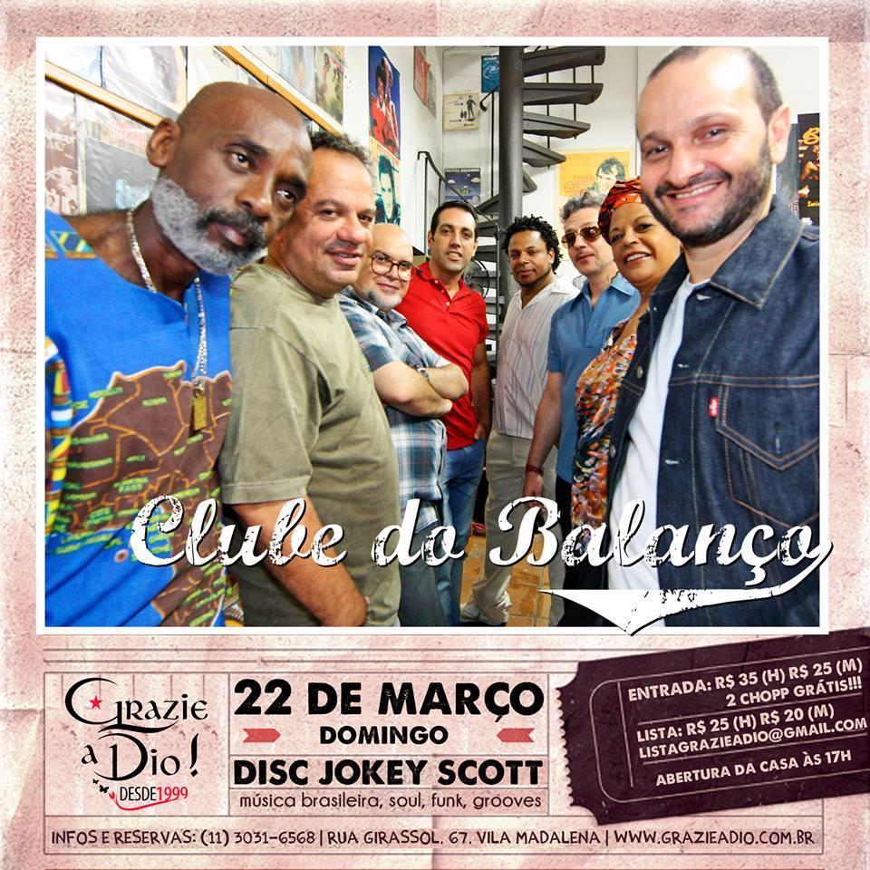 Clube do Balanço reinaugura a tradicional domingueira do Grazie a Dio #nota