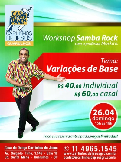 Casa de Dança Carlinhos de Jesus recebe workshop do professor Moskito #nota