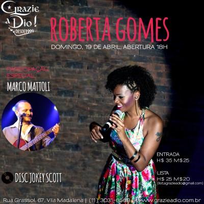Domingo Roberta Gomes se apresenta em show na Vila Madalena #nota