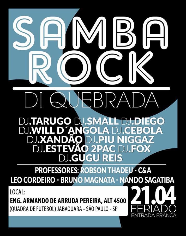 Começa às 14h o Samba Rock Di Quebrada com DJs, aulas e apresentações #nota
